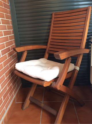2 sillas madera teka jardin de segunda mano por 68 en for Sillas teka jardin