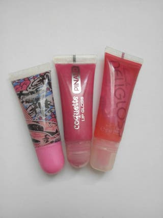 Pack 3 glosses efecto natural.