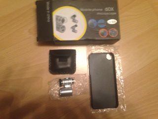 Carcasa Iphone 5/5s Con Aumentador De Lente Y Leds