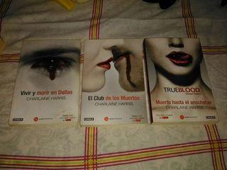 3 libros TRUE BLOOD (Sangre Fresca)