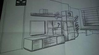 Mueble en comedor. Biox