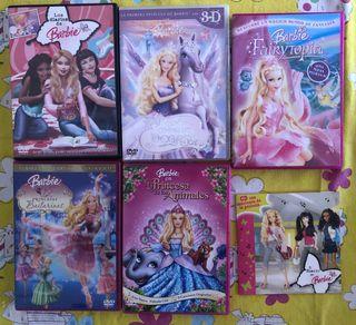 5 Peliculas En Dvd De Barbie