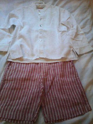 """Camisa y pantalon lino """"pan & chocolate"""""""