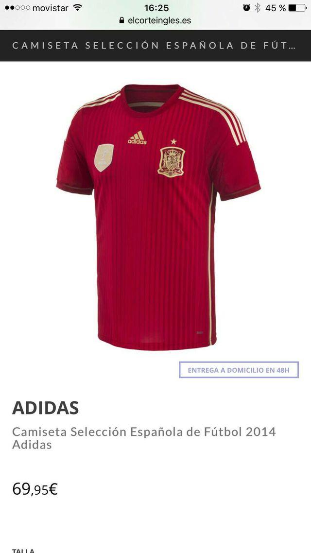 60abe4dee14ca Camiseta oficial selección española de segunda mano por 30 € en ...
