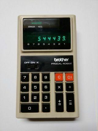 Calculadora Brother 408AX Vintage 1972