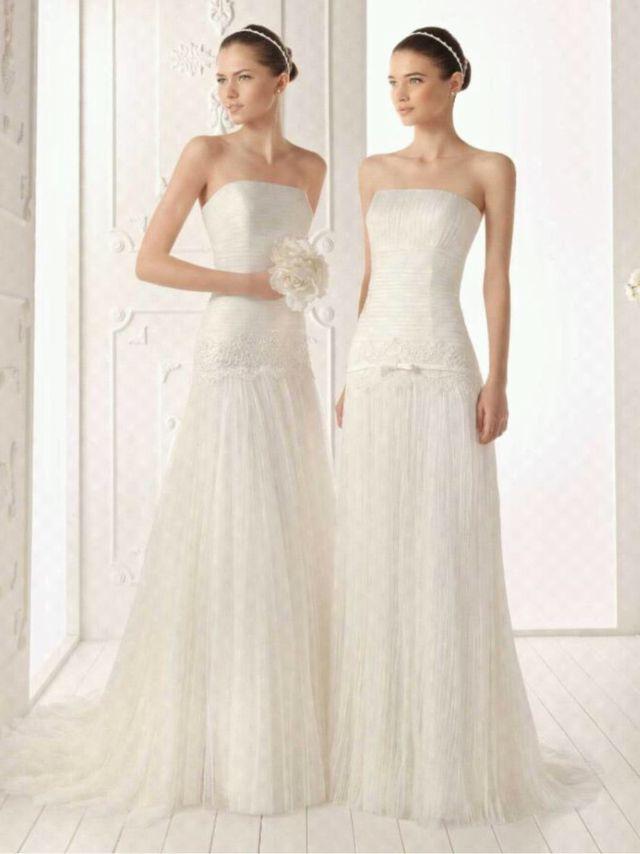 vestido novia aire barcelona modelo regina de segunda mano por 500
