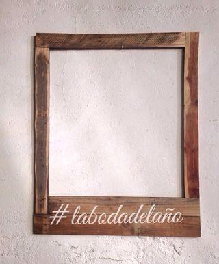 Marco De Polaroid De Madera