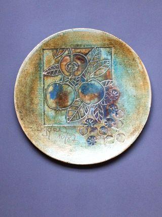 Plato De Ceramica Firmado