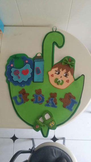 Nombres de los niños y niñas decorados