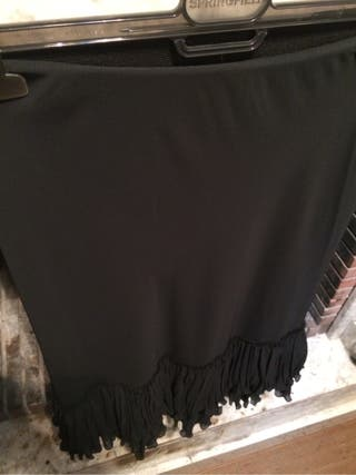Falda plisada volantes
