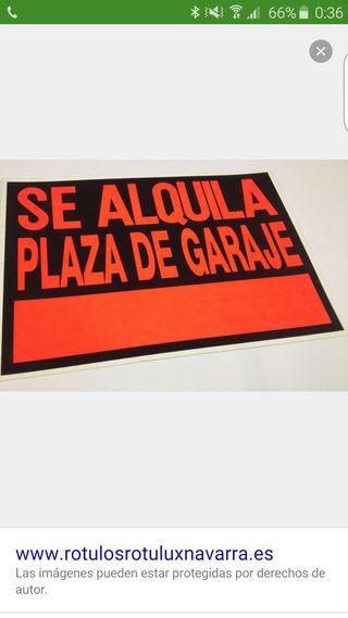 Se alquila plaza de garaje calle La Roda