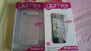 FUNDA IPHONE 4/4S + PROTECTOR ORIGINAL