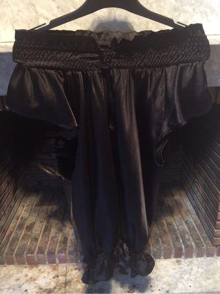 Blusa Negra Cuello mao