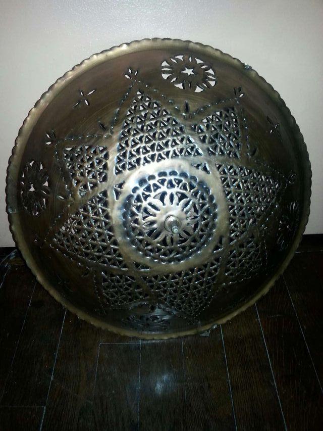 Abat jour suspension métal artisanat marocain