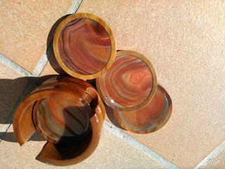 Juego de posavasos en piedra semipreciosas