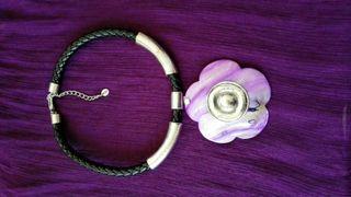 Collar flor lila
