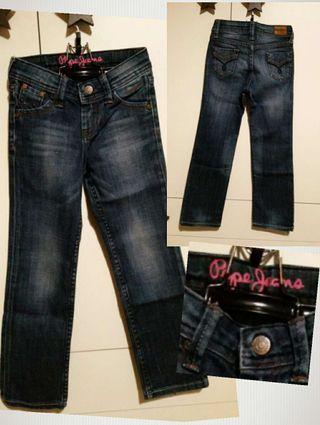 Pantalon tejano talla 6 - 7 niña;pepe jeans