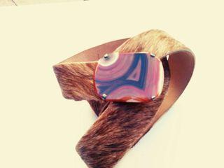 Cinturon de piel de potro y hebilla de agata