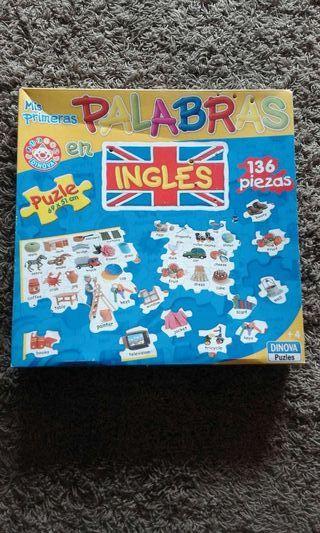 Puzzle mis primeras palabras en inglés.
