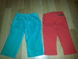 Pantalones bebe 6-9.