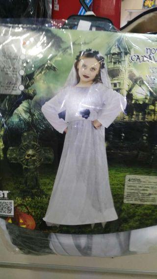 Disfraz novia cadaver niña