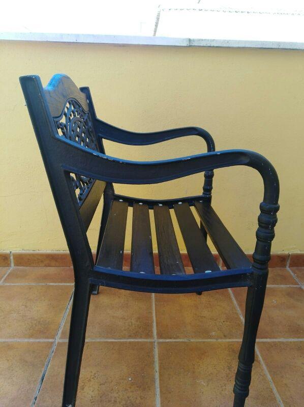 2 sillas fundición y madera Restauradas