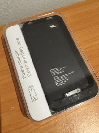 Iphone4/4s Funda y Bateria Color Negro