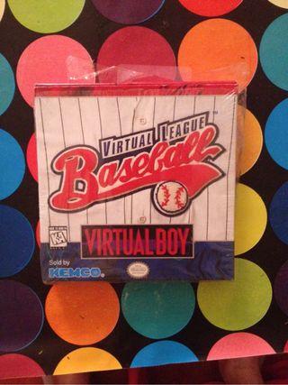 """Juego De Virtual Boy De Nintendo"""" Virtual League Baseball"""""""