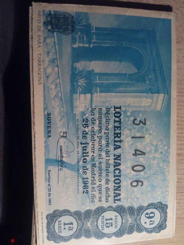 Loteria nacional 1962