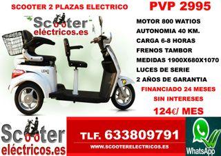 Scooter eléctricos de dos plazas nuevos
