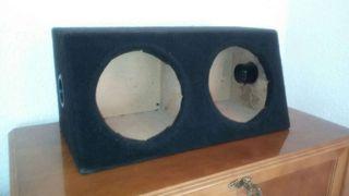 Caja Cajon doble Subwoofer Car Audio