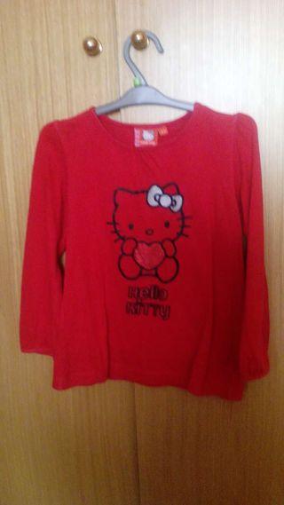 Camiseta Hello Kitty. Talla 4/5