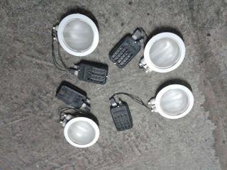 4 plafones de luz