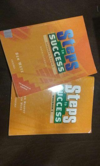 "Libros ""Steps to succes 1"" de Oxford"