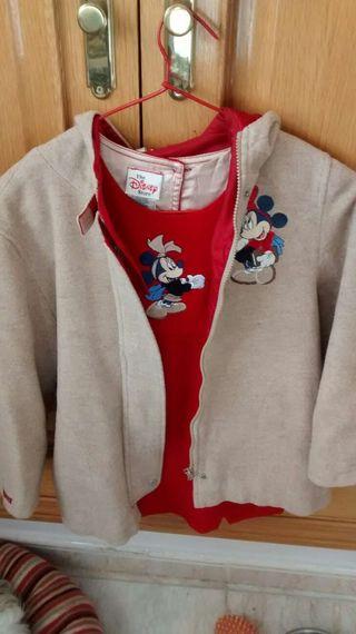 conjunto chaqueta y Pichis de lana de minie