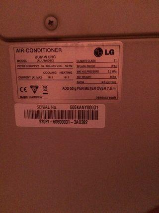 Máquina de AA (aire acondicionado) Inverter Lg