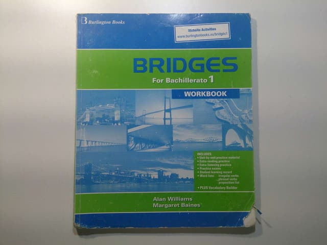 Inglés, Workbook Bridges For Bachillerato 1, Ed. Burlington Books