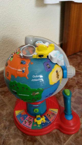 Bola del mundo interactiva