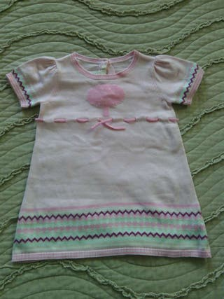 Vestido rosa de bebe