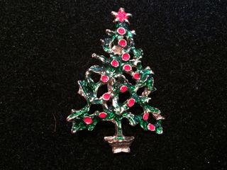 Broche Árbol De Navidad Años 80.