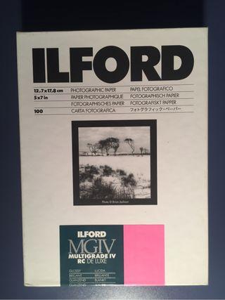 Papel Fotografico Ilford 12,7x17,8cm