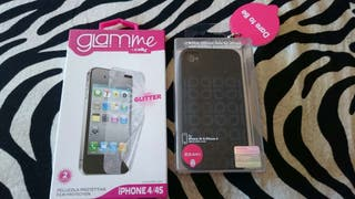 FUNDA IPHONE 4/4S + PROTECTOR pantalla
