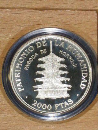 Estuche moneda 2000 Pesetas 1997 plata proof