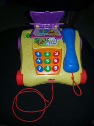 Teléfono animal Fisher Price.