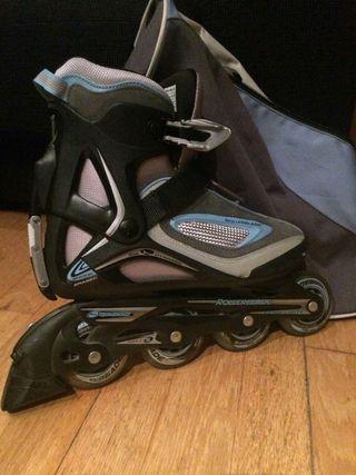 patines Rollerblade con mochila talla 39