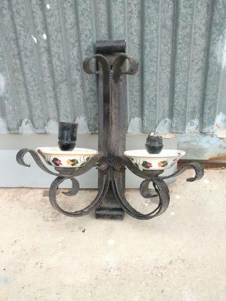 Liquido lámparas de hierro y cerámica