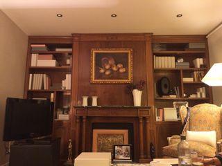 Libreria Estanteria Clasica Boiserie Nogal