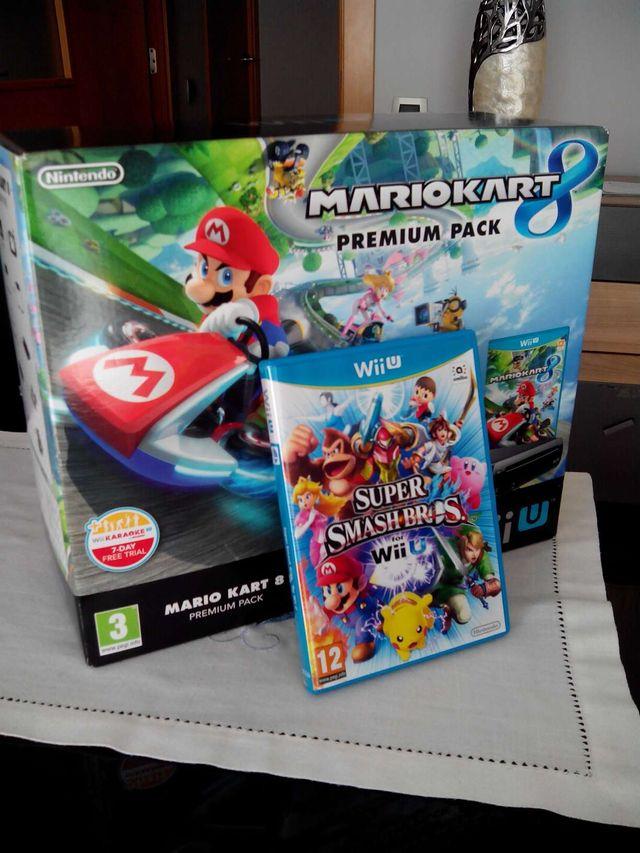 WiiU Negra 32 GB + Mario Kart 8 + Super Smash Bros WiiU