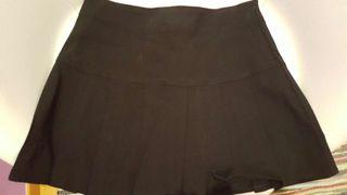 Mini falda negra tablas