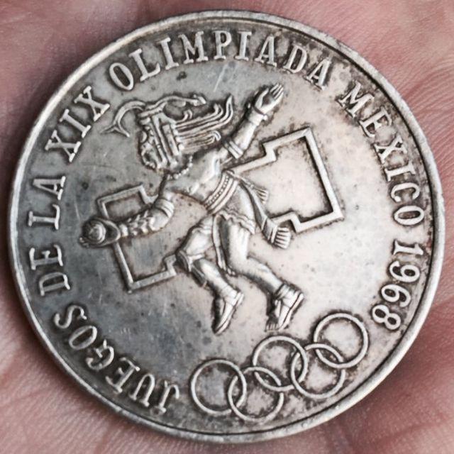 Moneda De Plata Conmemorativa De Los Juegos Olimpicos De Mexico 1968